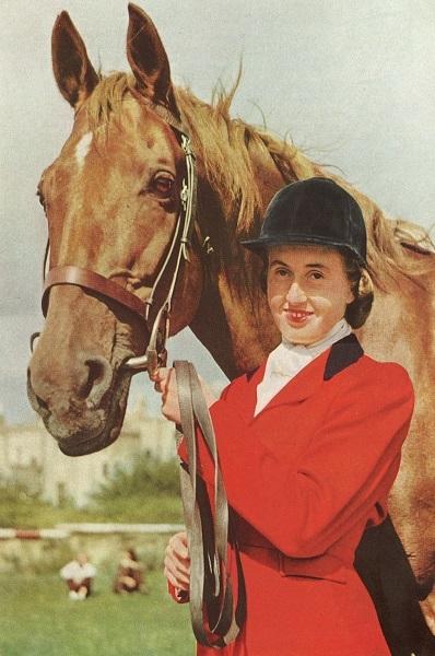 RDS_horseshow_Iris Kellett and Rusty_1949.jpg
