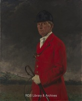 Portrait of William Evelyn Wylie as Master of the Ward Union Hounds